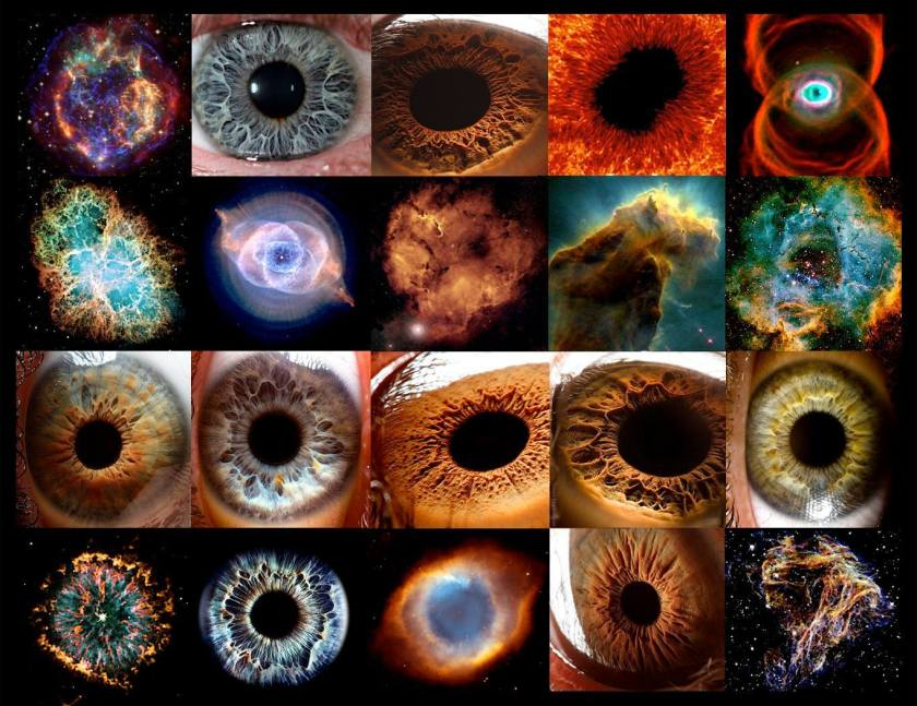 eyes and galaxies
